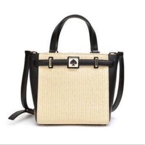 Kate Spade Leo Houston Street Straw Satchel